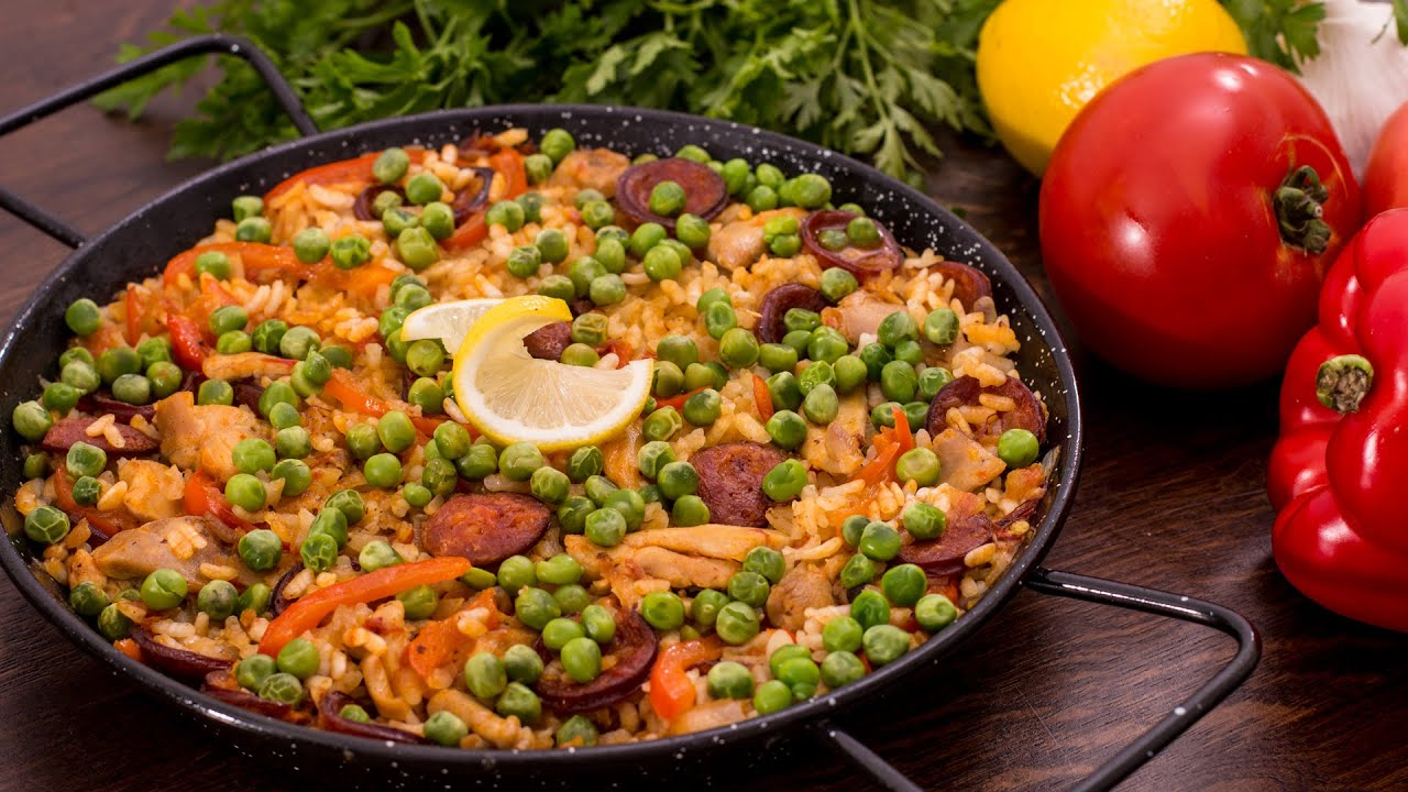 Chicken And Chorizo Rice Paella Style Youtube