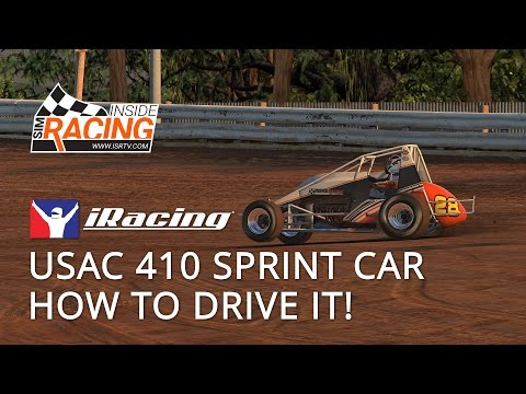 iRacing USAC 410 Sprint Car Test Drive - How to Drive It!