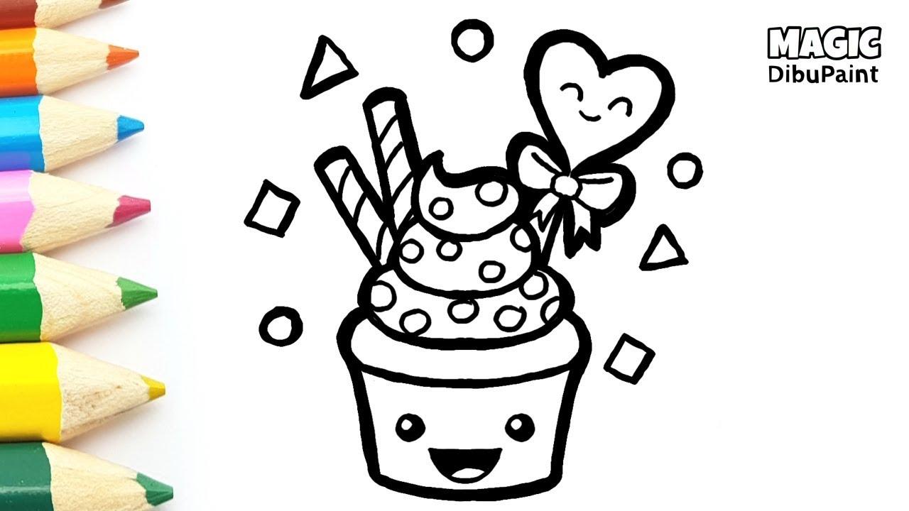 Cómo Dibujar Cupcake Kawaii Dibujos Para El Día De La Madre Youtube