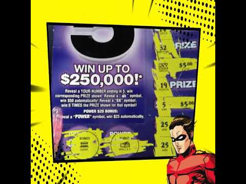 Power 5 Florida Lottery Scratch Off Ticket Youtube