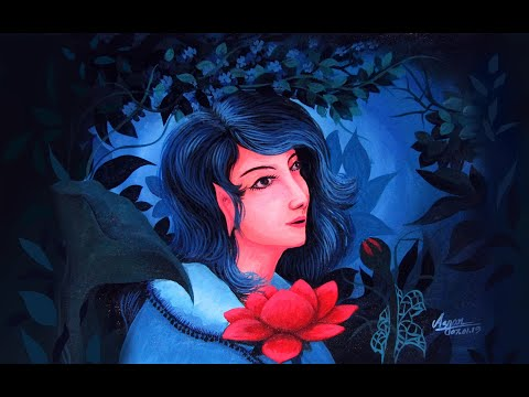 Artist Acrylic Painting Tutorial step by step part 2 / Beautiful canvas art with original video