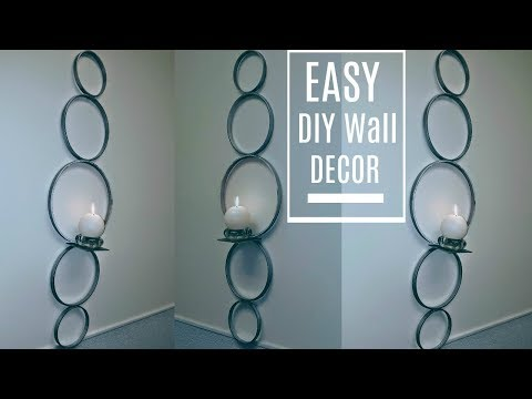 DIY Wall Decor | Sconce $5 in 5 Minutes with Dollar Tree Candle Holder | DIY Glam Home Decor