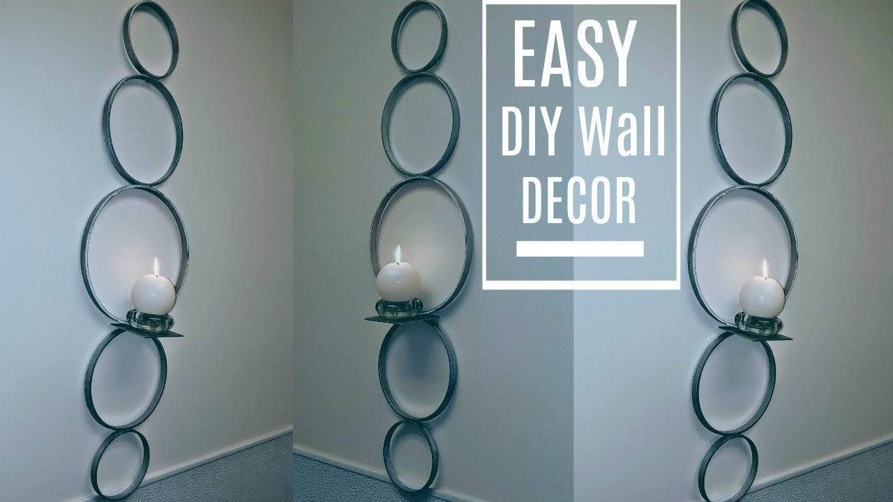 Diy Wall Decor Sconce 5 In Minutes With Dollar Tree Candle Holder Glam Home