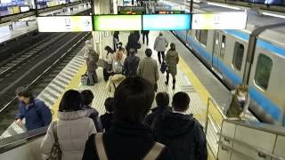 Hamamatsucho Transfer from (Haneda) Tokyo Monorail to Yamanote Line (130228)