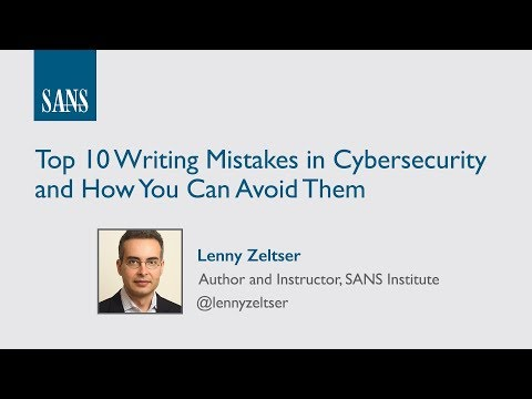 Top 10 Writing Mistakes in Cybersecurity and How You Can Avoid Them