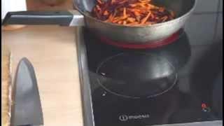 Жареная свекла с морковкой и фасолью