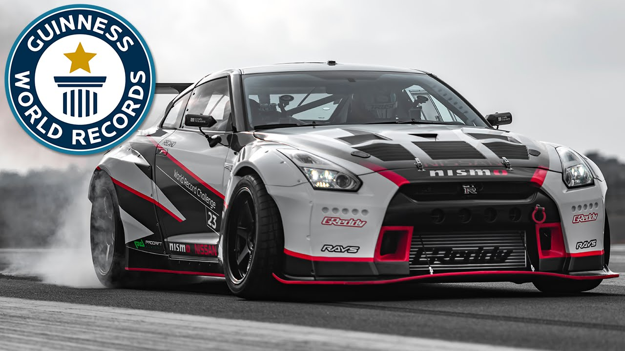 Captivating Fastest Drift   Nissan Middle East FZE Sets World Record   YouTube