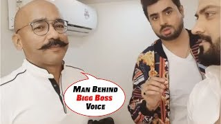 Man Behind Bigg Boss Voice Come On Camera And Does Live Commentary Like Bigg Boss