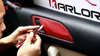 3D Carbon Fiber Vinyl Film 3M Car Sticker Waterproof Diy Motorcycle Automobile Car Styling Wrap