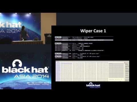 Black Hat Asia 2014 - Z:\MAKE TROY\NOT WAR: Case Study of the Wiper APT in Korea, and Beyond