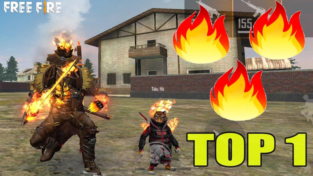"""Thử Thách - Chỉ Sử Dụng Đồ vs Súng Có Hiệu Ứng """"Lửa Cháy"""" Lấy TOP 1 Trong Rank   Free Fire"""