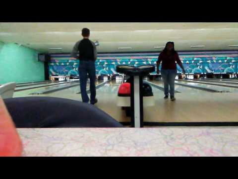 Bowling at holiday lanes in Whitehall Ohio.