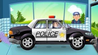Мультики Мультики про машинки Мойка машинок Полицейская машина для детей Все серии подряд Осень 2016