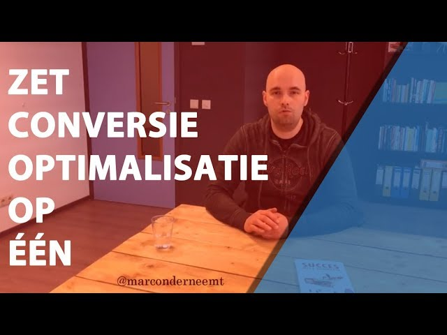 Zet Conversie Optimalisatie op één