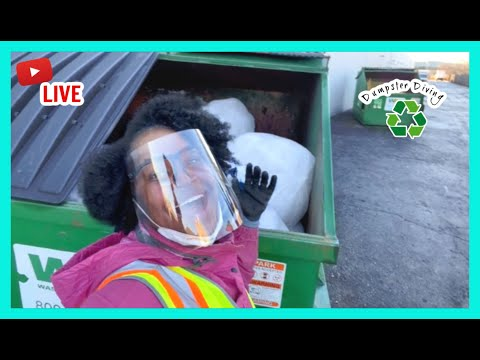 Dumpster Diving at the STORES in another STATE (As Promised)!     Good Friday Morning LIVE   