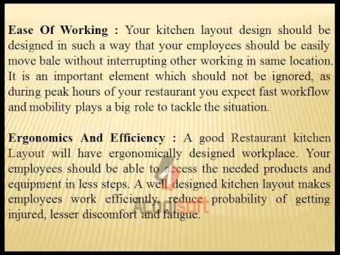 Key Elements Of Restaurant Kitchen Layout Design Youtube
