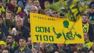 Emotivo homenaje a Emiliano Sala en el partido del Nantes frente al Nimes