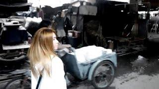 タイ少女と行くスラム街,バンコクのクロントイスラム,khlong toey slum in Bangkok