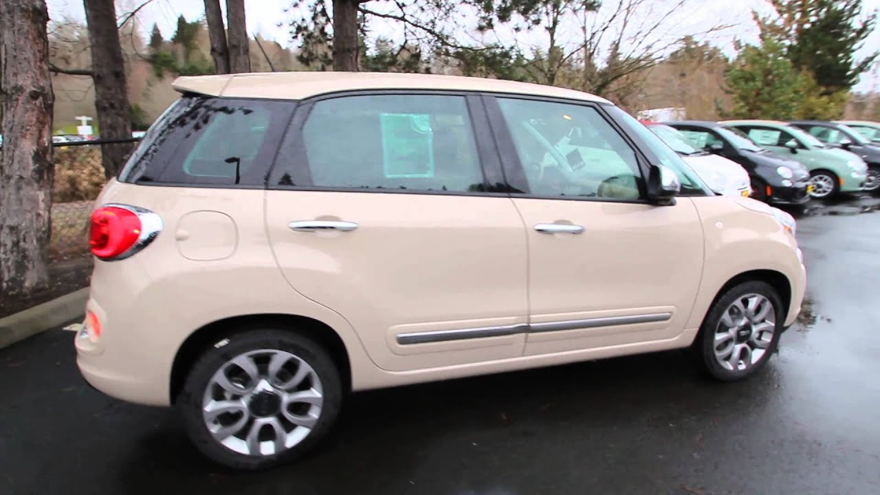 2014 fiat 500l lounge mocha latte ez015835 redmond seattle youtube. Black Bedroom Furniture Sets. Home Design Ideas