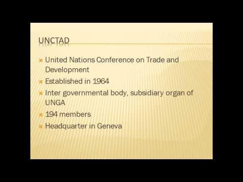 INTERNATIONAL ORGANISATION -UNCTAD