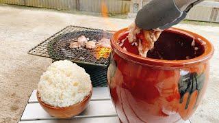 その美味さ悪魔的‼大量の玉ねぎに漬け込んだシャリアピン風壺漬けホルモン‼