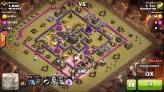Attack 2 | LAVALOONION ATTACK TH 9 | 3 Star Strategy | Clash of Clans | Clan Wars