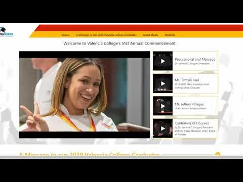 Valencia College 2020 Graduation(Virtual)