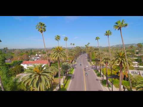 Beverly Hills, Beverly Blvd. Drone Fly Over