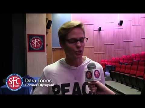 Olympian Dara Torres at St. Francis College