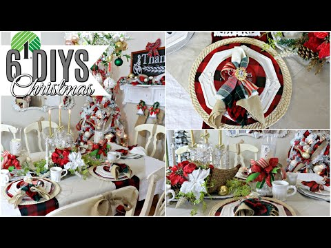 "🎄6 DIY DOLLAR TREE CHRISTMAS DECOR CRAFTS 2019🎄ELEGANT TABLESCAPE ""I Love Christmas"" ep 27"