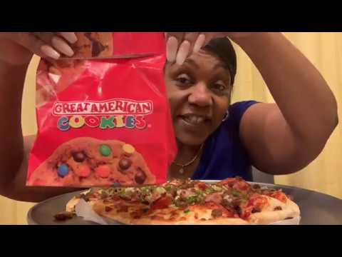 Mr Gatti's Pizza, Great American Cookies Mukbang Carla E Show AKA SeeMsSassy