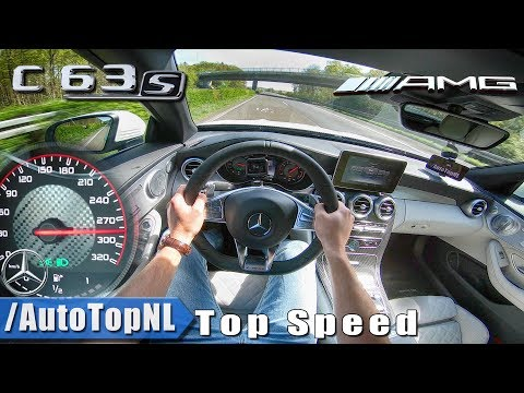 2018 Mercedes AMG C63 S Convertible | 280km/h AUTOBAHN POV TOP SPEED By AutoTopNL