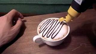 カフェラテでチョコアート【Chocolate Latte Art】