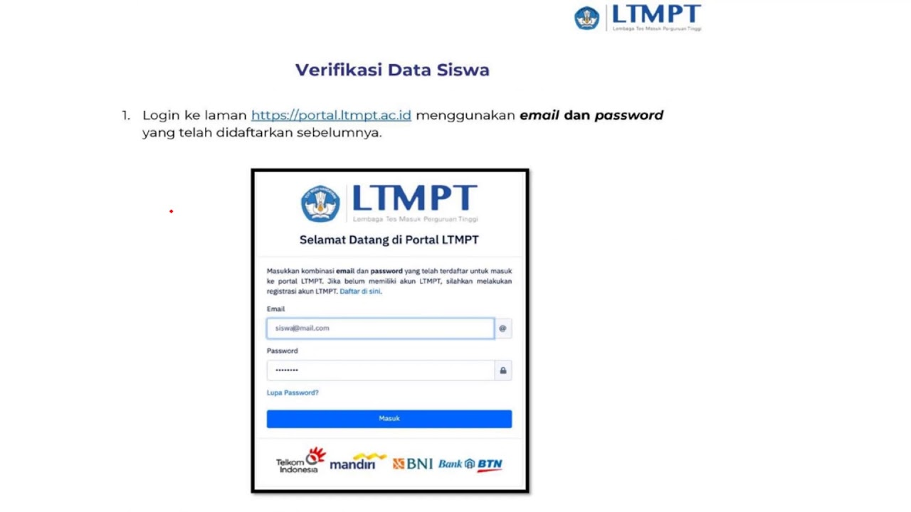 Wajib Daftar Akun Ltmpt Cara Daftar Akun Sso Ltmpt Siswa Snmptn 2020 Utbk 2020 Youtube