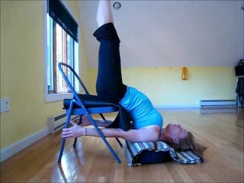 Salamba Sarvangasana Supported Shoulderstand Chair Variation Youtube