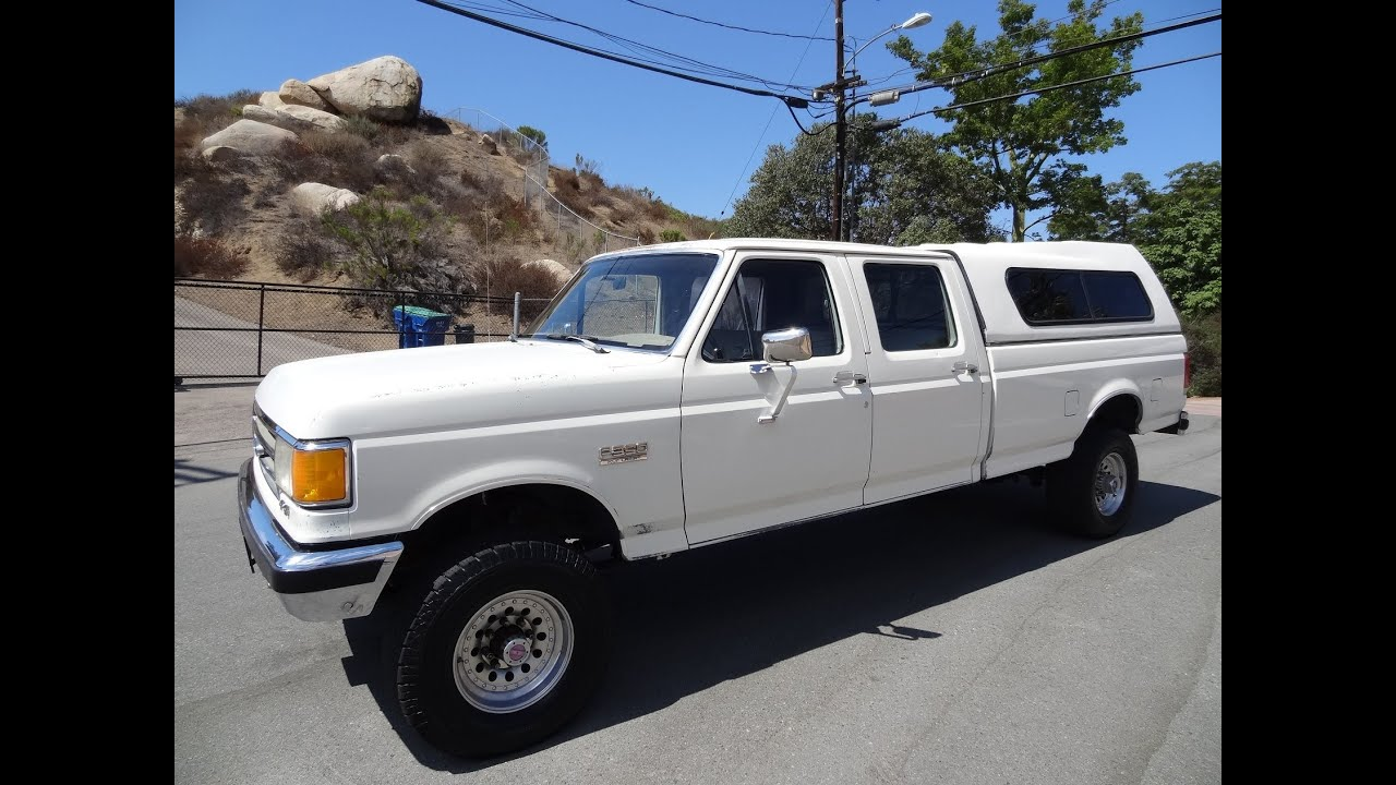 small resolution of 1 owner 1989 ford f 350 xlt lariat 4x4 crew cab 4 door video 1 exterior undercarriage youtube