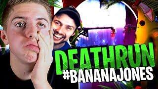 Michou et Doc Jazy test mon Deathrun Extrême #BananaJones en avant première sur Fortnite Créatif !