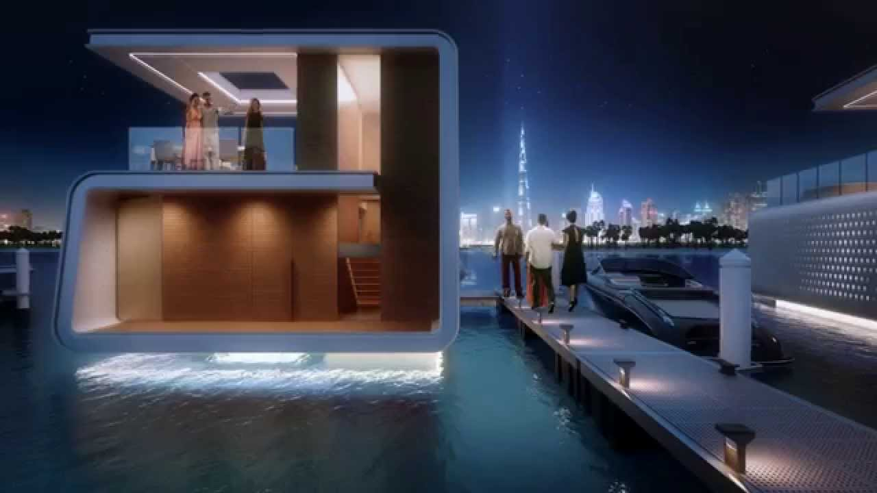 The floating seahorse in dubai youtube - The floating homes of dubai luxury redefined ...