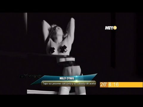 Miley Cyrus se desnuda fuera y dentro de los videoclips