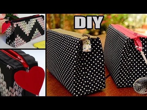 DIY PURSE BAG • ZIPPER BAG NO SEW TUTORIAL