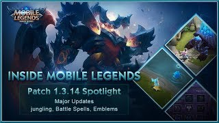 MOBILE LEGENDS : Bang Bang! - Inside Mobile Legends | Patch 1.3.14 Spotlight (2018) HD