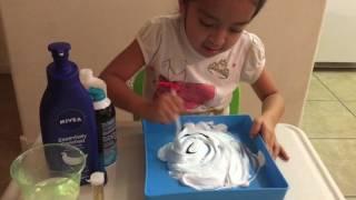 Como hacer fluffy slime con borax 😱😄