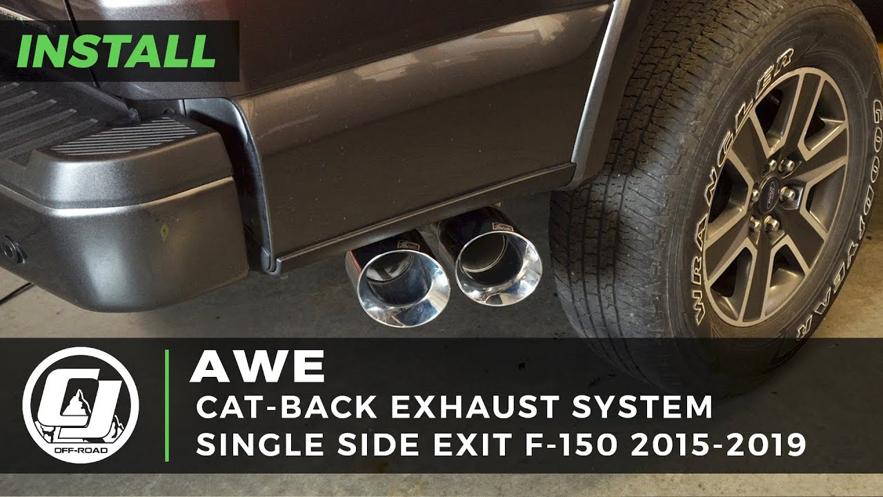 2015 2019 ford f 150 install awe single side exit 0fg cat back exhaust system