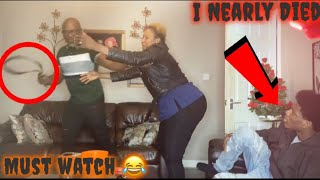 DO YOU WANT TO FIGHT ME PRANK ON MY AFRICAN UNCLE ft MY AFRICAN MOM (I nearly died)