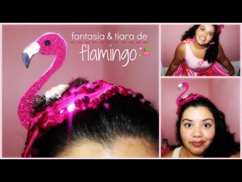 Fantasia E Tiara De Flamingo Marina Marques Diy Ecarnaval Youtube