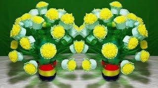 How to Make Beautiful Guldasta    DIY : New Design Woolen Guldasta with plastic bottle    Flowers