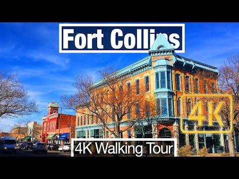 4K City Walks: Fort Collins, Colorado Walking Tour - Virtual Walk Treadmill Scenery City Guide