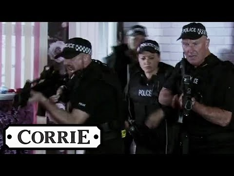 Armed Police Raid The Nail Salon | Coronation Street