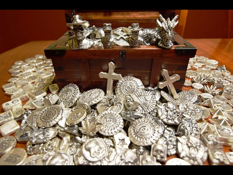 MASSIVE Haul Of Poured Silver & Statues From MK Barz! 305 oz's!