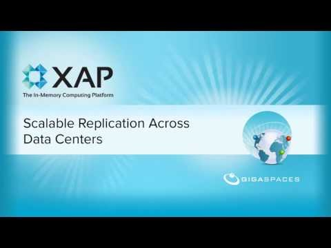Scalable Data Replication Across Sites with XAP In-Memory Computing Platform